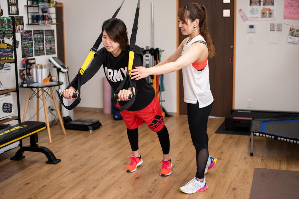 松山市のマンツーマントレーニング